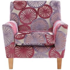 Marrakesh Patterned Accent Chair ($350) ❤ liked on Polyvore featuring home, furniture, chairs, accent chairs, two person chair, patterned chairs, floral furniture, floral chairs and patterns furniture