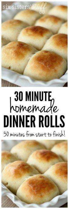 30 Minute Dinner Rolls from http://SixSistersStuff.com