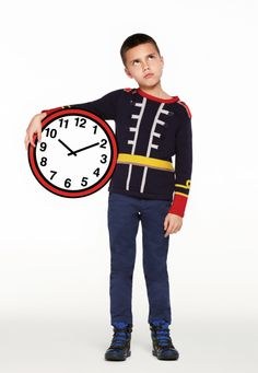 Stella McCartney Kids winter 2012 the military look in navy for the boys.