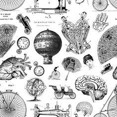 vintage seamless pattern by aleksandra jovanic, via Flickr