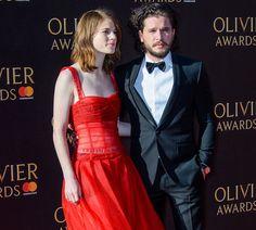 Celebrities arrive on the red carpet for the 2017 Olivier Awards held at the Royal Albert Hall in London, England. <P> Pictured: Rose Leslie, Kit Harington <B>Ref: SPL1477111  090417  </B><BR /> Picture by: Splash News<BR /> </P><P> <B>Splash News and Pictures</B><BR /> Los Angeles:310-821-2666<BR /> New York:212-619-2666<BR /> London:870-934-2666<BR /> photodesk@splashnews.com<BR /> </P>