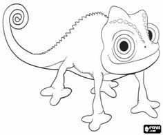 desenho de O camaleão Pascal, o mascote da Princesa Rapunzel