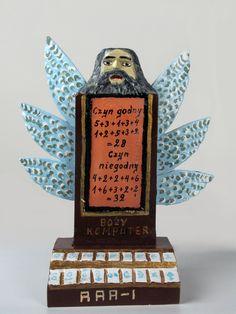 #Rzeźba pt.  Boży #komputer, kolekcja #ethnomuseuminwarsaw / folk #artwork called #Computer of the God