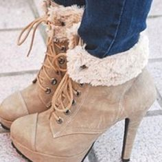 Cute boots, but I suck at wearing heels. I think I'll just stare at them for now. #boots #winter