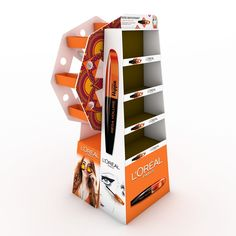 FloorstandMiss Hippie- LOREALMateriales:Cartón corrugadofalconboar Pos Display, Display Design, Display Shelves, Store Design, Product Display, Display Stands, Booth Design, Banner Design, Point Of Sale