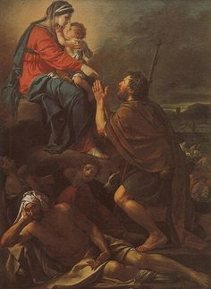 Jacques-Louis David(1748–1825). San Rocco intercede presso la Vergine per la gtuarigione degli appestati, olio su tela, Marsiglia, M. des B.-A.  Date1780