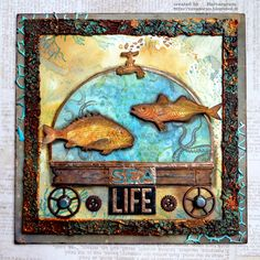 yaya scrap & more: SEA LIFE AND DISTRESS OXIDES