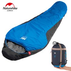 0b88b64e0d34 Naturehike Outdoor Professional Mummy Sleeping Bag Hiking Warm Lightweight  Compact Season For Adult Child With Carry Bag    FREE Worldwide Shipping!