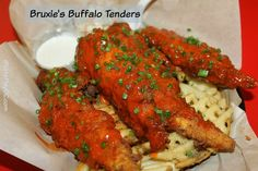 Bruxie's Buffalo Chicken Tenders with Waffle Fries #BruxieBuffalo