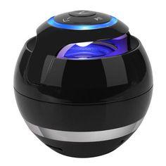 Portable Wireless Mini Bluetooth Speaker Boombox Sound Mic TF Card FM Radio LED Light