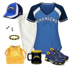 San Diego Chargers Game Day by carriefdix on Polyvore featuring J.Crew, Louis Vuitton, '47 Brand and Boelter