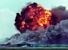 Da Nang AB: TFW: Bomb Dump Explosions sent ringlets of shockwaves through the clouds and across the airbase. Vietnam History, Vietnam War Photos, Military Photos, Military History, Danang Vietnam, Camping Books, North Vietnam, Colored Smoke, Navy Aircraft