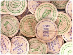 Wooden Trade Tokens