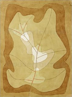 Paul Klee (1879-1940), Belichtetes Blatt (Exposed Leaf), 1929 (274). Watercolour and pen on paper on cardboard. 30.9cm H x 23cm W.