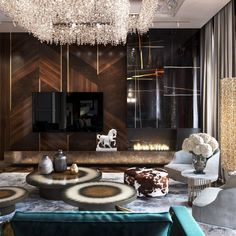 Having the tv being offset, fireplace off the other side and different seating items give this room and asymmetrical feel to it. Living Roon, Living Room Decor, Luxury Interior Design, Best Interior, Interior Design Living Room, Living Room Designs, Lcd Units, Tv Wall Decor, Luxury Living