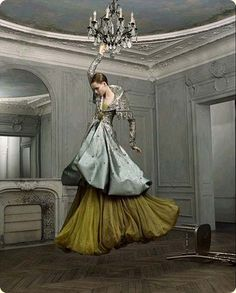 These well known photographs by Jean Baptiste Mondino were taken for The New York Times Magazine in 2007. The model is Tiiu Kuik