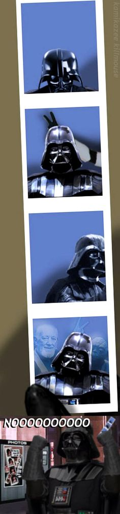Not even the Force can stop Darth Vader from being Photobombed.