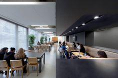Дизайнеры компании OIII Architects работали над оформлением нового корпуса Amstel Campus Университета Амстердама. Великолепный дизайн в современном стиле делает обучение приятным процессом. Кампус скорее напоминает бутик-отель нежели учреждение образования.