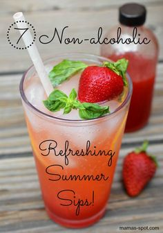 7 Non-alcoholic Refreshing Summer Sips! Sip Yourself To Paradise! YUMMY!!