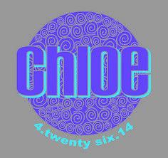 Custom logo for Chloe using swirls #bat mitzvah logo design