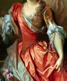 Portrait de femmme (Madame de Thorigny ?) (Détail) Nicolas de Largillière 1696