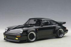"Porsche 911 Turbo ""Blackbird"" | 1:18 Scale Diecast Model Car by AUTOart | Front Quarter"