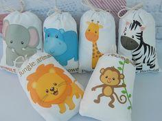 Bolsas de Favor animales de la selva para Baby por CharleysCache