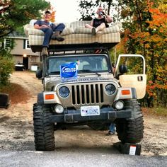 We do not currently offer the redneck options package. Jeep Cars, Jeep 4x4, Put First Things First, Big Girl Toys, Jeep Brand, Badass Jeep, Jeep Stuff, Rally Car, Southern Comfort