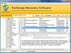 EDB recovery to PST utility magnificently and smoothly recovers EDB PST with complete storage data. By getting EDB recovery tool user became able to recover single selected EDB emails into each format and also save 25 EDB emails per folder. Recovery Tools, Data Recovery, Mailbox, Conversation, Software, Author, How To Plan, Conversion Tool, Restore