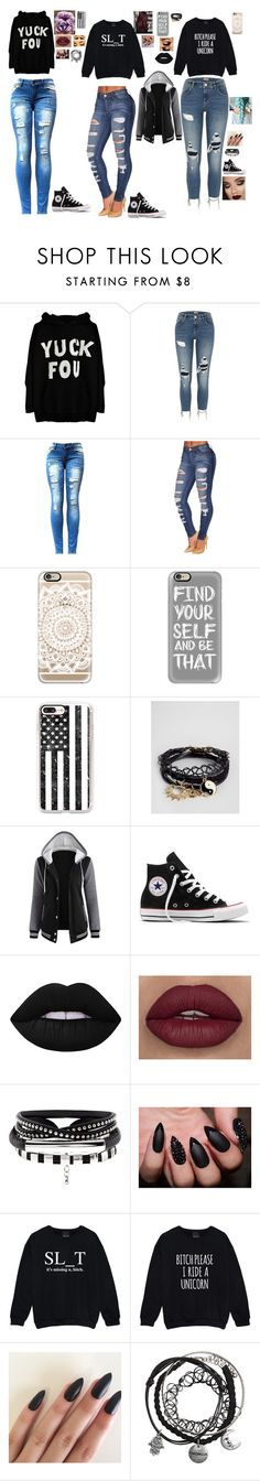 """Hang Out"" by sammers21 ❤ liked on Polyvore featuring River Island, Casetify, ASOS, Converse, Lime Crime, Kale and Ultimate"