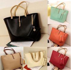 Fashion PU Leather Tote Shoulder Bags Hobo Handbags Satchel Messenger Bag Purse for Women