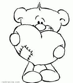 Раскраска мишка Тедди | digistamps, paper etc. | pinterest