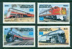 Antigua 1986 American Trains (4) MUH