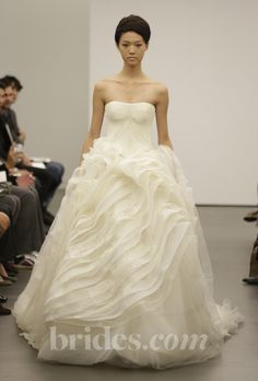 """Brides.com: . """"Lara"""" organza and lace ball gown with a sweetheart neckline, Vera Wang  See more Vera Wang wedding dresses in our gallery."""