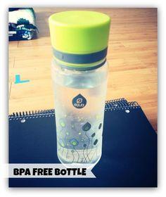 Eat. Drink. Shrink. BPA FREE equa water bottle