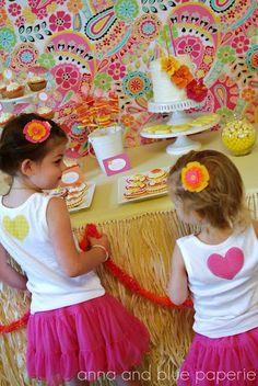 Aloha Themed Birthday Party