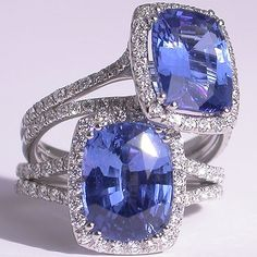 Mark Patterson Sapphire and Diamond Engagement Rings.
