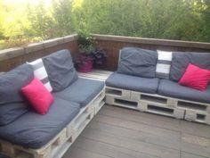 Canapé De Terrasse / Pallet Terrace Sofa Pallet Sofas