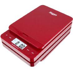SAGA 0.1 oz. to 86 lb. Digital Postal Scale, Red