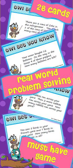 real world problem solving game