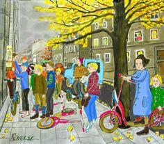 Stadtkinder im Herbst