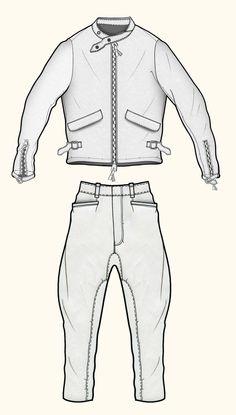 VINTAGE MENSWEAR. Jaa design original fashion illustration.