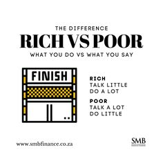 """🔥 Rich vs Poor 🔥  People with a """"rich"""" mindset know that DOING is more important than TALKING because the results will do the talking for them. 😱 It's pretty simple really if you want to be taken seriously and see results then just do what you say. 🤷♂️   #dowhatyousay #successmindset #execute #rich #poor #work #workethic #selfdevelopment #dailygrind #keepmovingup ##thoughtogtheday #foodforthought Rich Vs Poor, Talk A Lot, Life Cover, Work Ethic, Success Mindset, Financial Tips, Retirement Planning, Self Development, Food For Thought"""