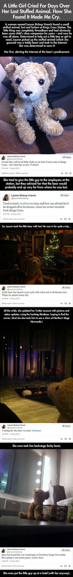 Little Girl Loses Her Stuffed Animal, Then The Internet Does Something Awesome ||| Kindness Blog
