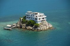 Private island house..