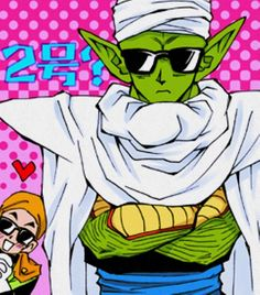 Piccolo wearing a pair of shades posing like a badass. Your argument is invalid. (GOHAN ON THE BACK IS <3)