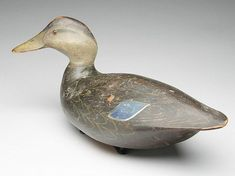 Very rare black duck, Ward Brothers, Crisfield, Maryland. 1933 model with turned and cocked head.