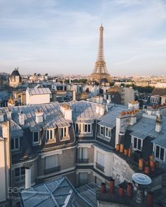 This photo of Paris is nice looking. It is nice because it also includes the the town around and not just the Eiffel tower.