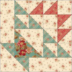 """Notting Hill"", from our Oct/Nov 2013 issue of QUILT. Fabric from the Notting Hill collection by RJR Fabrics."