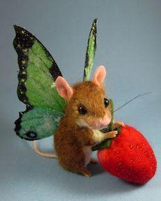 Needle Felted Art by Robin Joy Andreae Echt geweldig wat zij maakt! Needle Felted Animals, Felt Animals, Cute Animals, Wet Felting, Needle Felting, Maus Illustration, Felt Mouse, Hamster, Cute Mouse